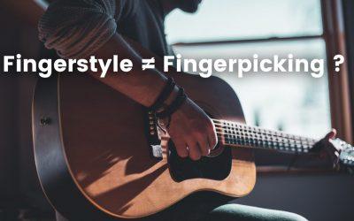 Quelle différence entre fingerstyle et fingerpicking?