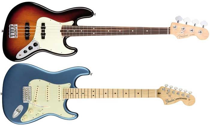 Longueurs différentes entre les basses et les guitares