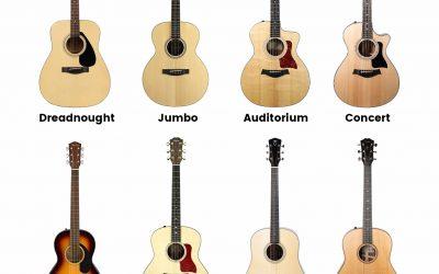 Les différentes formes de guitares acoustiques