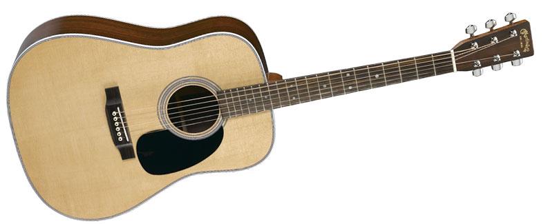 Forme de guitare acoustique de type Dreadnought