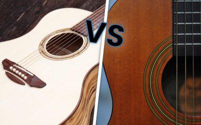 Choisir une guitare à cordes en nylon ou en acier?
